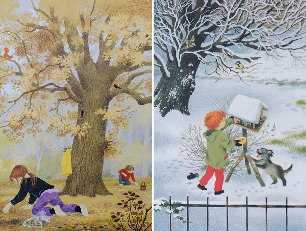 autumn & winter collage